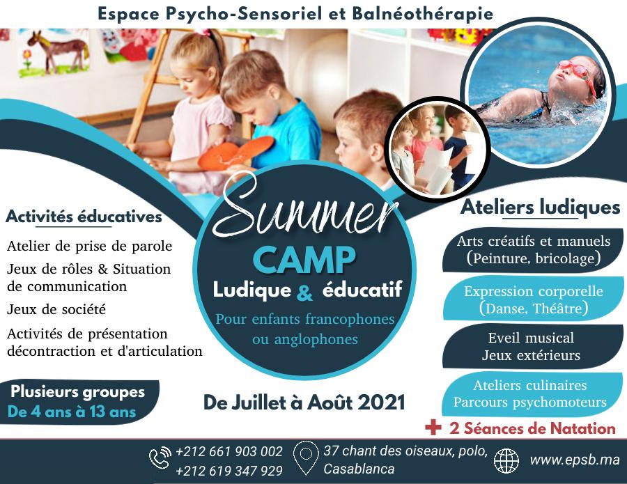 Camp de vacances d'été à Casablanca 2021